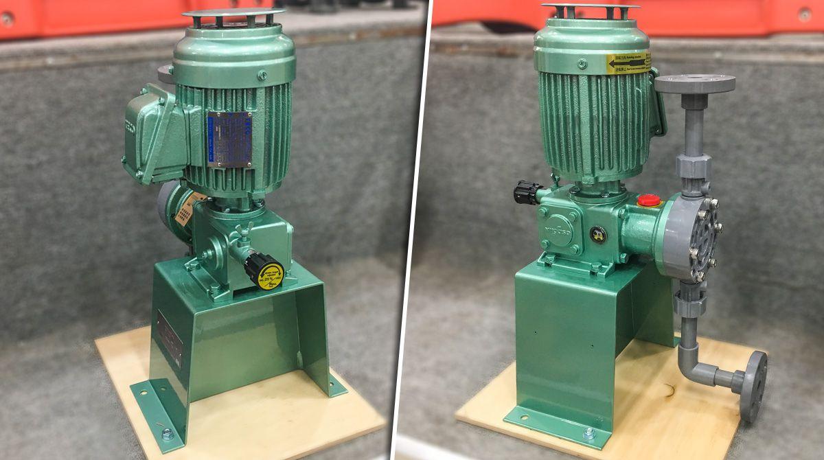 Bơm định lượng hóa chất Nikkiso AHA32 PCF FN có lưu lượng bơm: 108 lít/ h