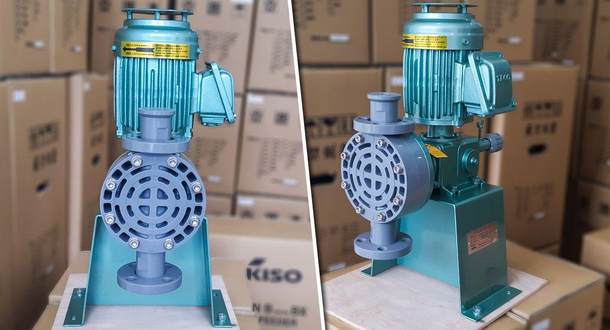 Bơm định lượng hóa chất Nikkiso AHA42 PCT FN có lưu lượng bơm 276 lít/ giờ