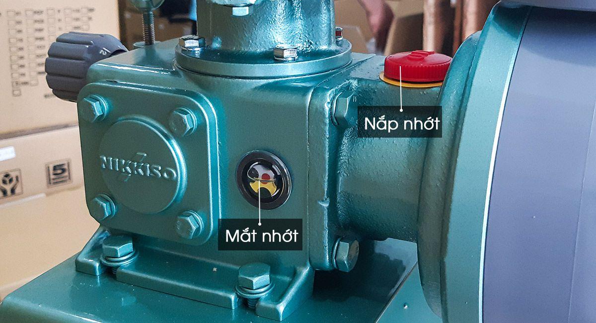 Cấu tạo mắt nhớt của bơm định lượng Nikkiso AHA42 PCT FN