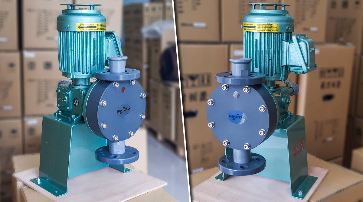 Bơm định lượng hóa chất Nikkiso AHA52 PCT FN là dòng máy bơm công nghiệp chuyên dùng bơm hóa chất xử lý nước, nước thải... Lưu lượng bơm tối đa là396 lít/ giờ