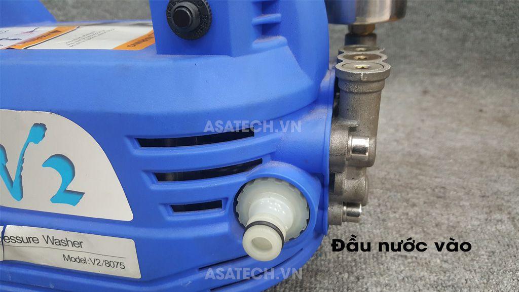 Máy rửa xe V2 trang bị đầu nước vào dạng khớp nối nhanh