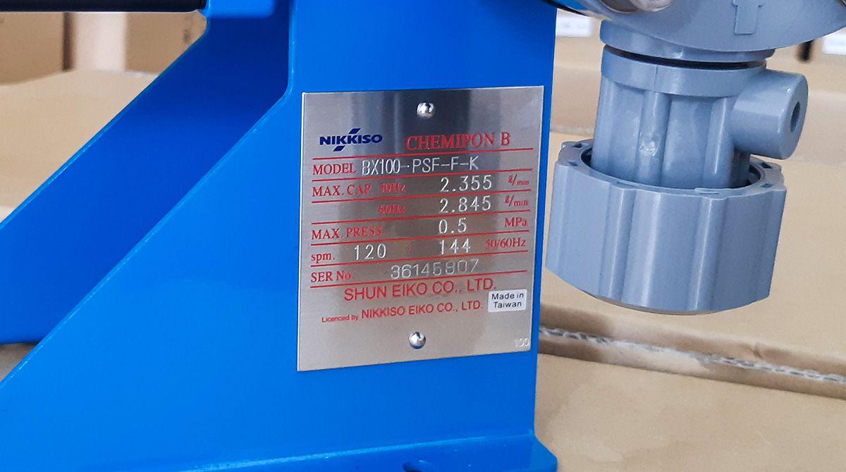Thông số kỹ thuật của bơm hóa chất Nikkiso Đài Loan