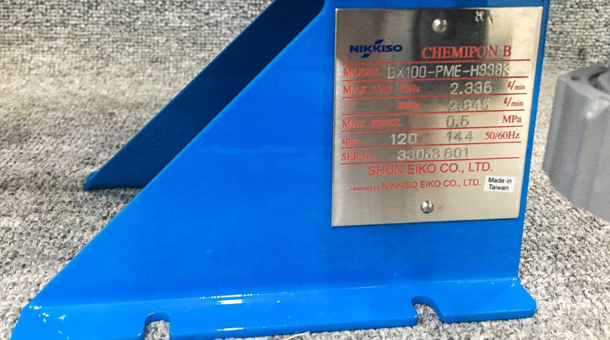 Thông số kỹ thuật của dòng máy bơmBX100 PME H338K.