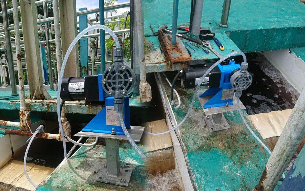 Bơm định lượng hóa chất Bx10 xử lý nước thải tại nhà máy