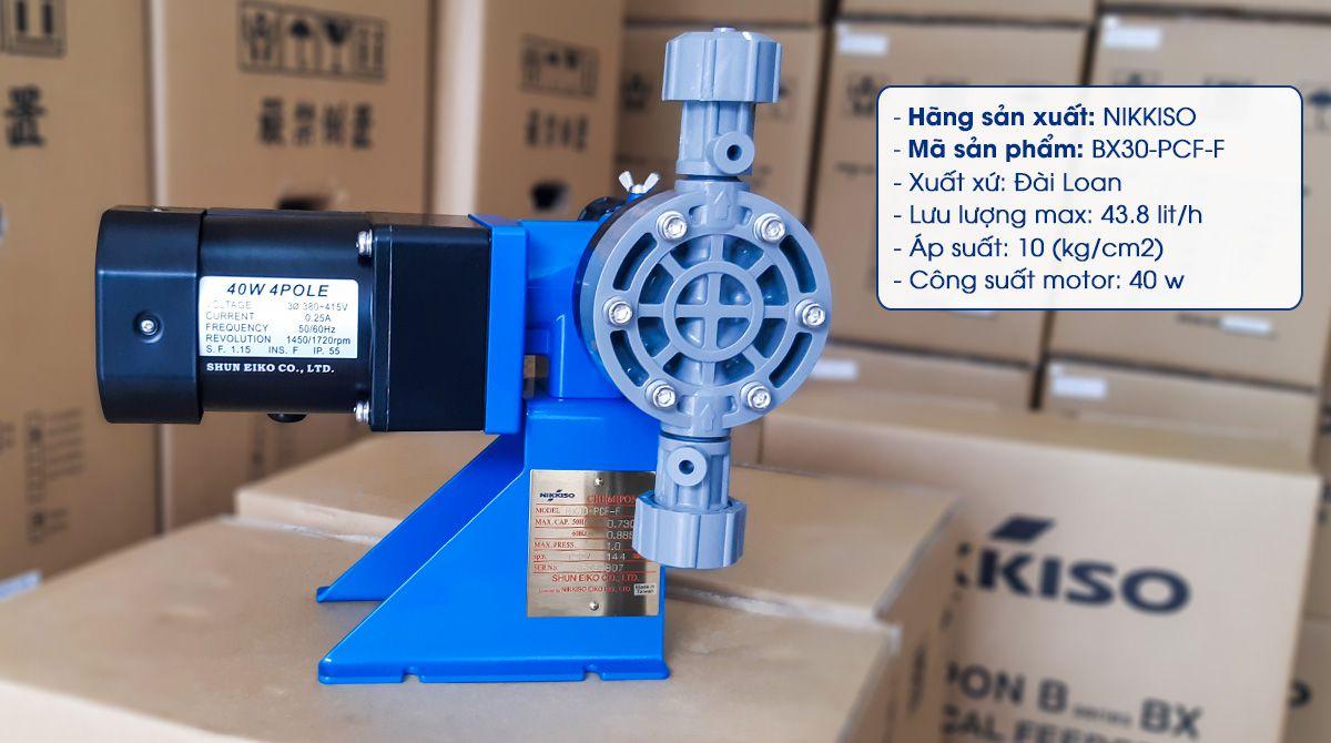 Bơm định lượng liều hóa chất xử lý nước. Lưu lượng: 43.8 (lít/h)