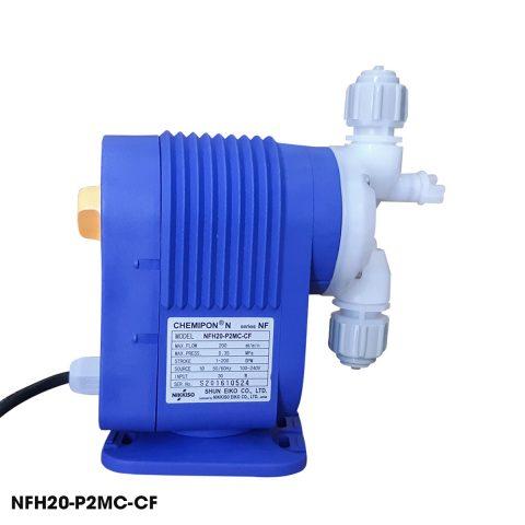 Bơm định lượng hóa chất Nikkiso NFH20 P2MC CF chuyên dùng bơm hóa chất có thể bơm được axit ăn mòn cao