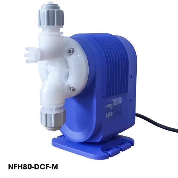Bơm định lượng hóa chất Nikkiso NFH80 DCF M là dòng máy bơm định lượng hóa chất xử lý nước thải Nikkiso