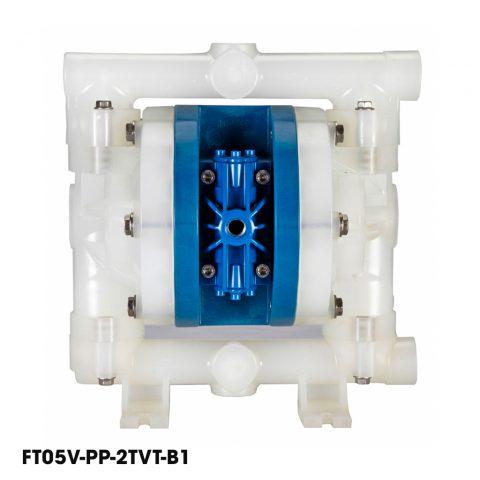 Bơm màng khí nén FTI FT05V-PP-2TVT-B1, bơm màng hóa chất