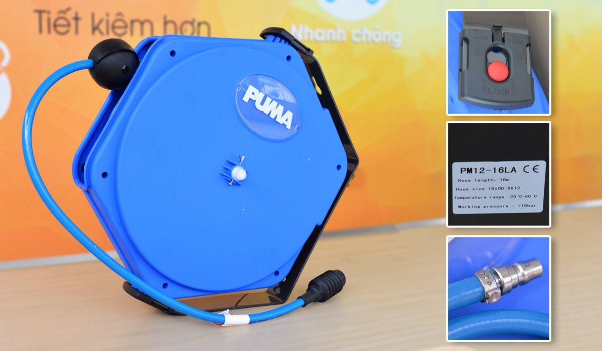 Cuộn dây hơi tự rút PM12-16LA chất lượng đảm bảo, nhiều khách hàng tin dùng.