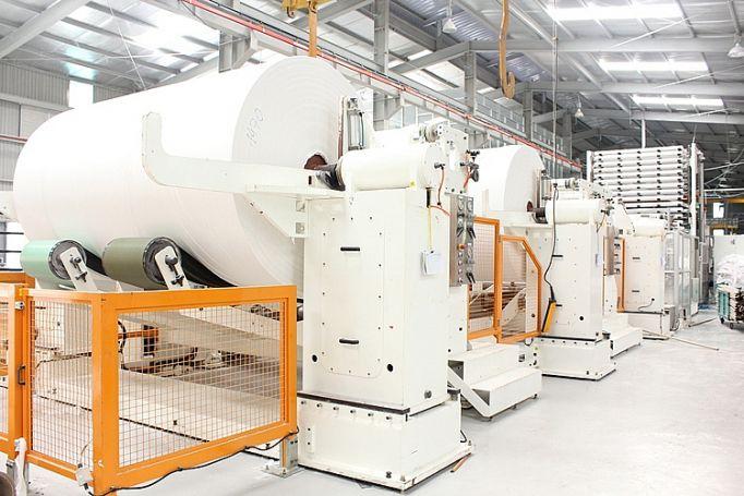 Máy bơm màng dùng trong ngành sản xuất dấy và bao bì,.