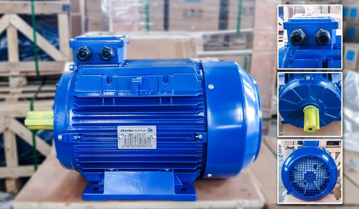 Mô tơ động cơ điện Elektrim EM132M-4 được nhập khẩu từ Singapore