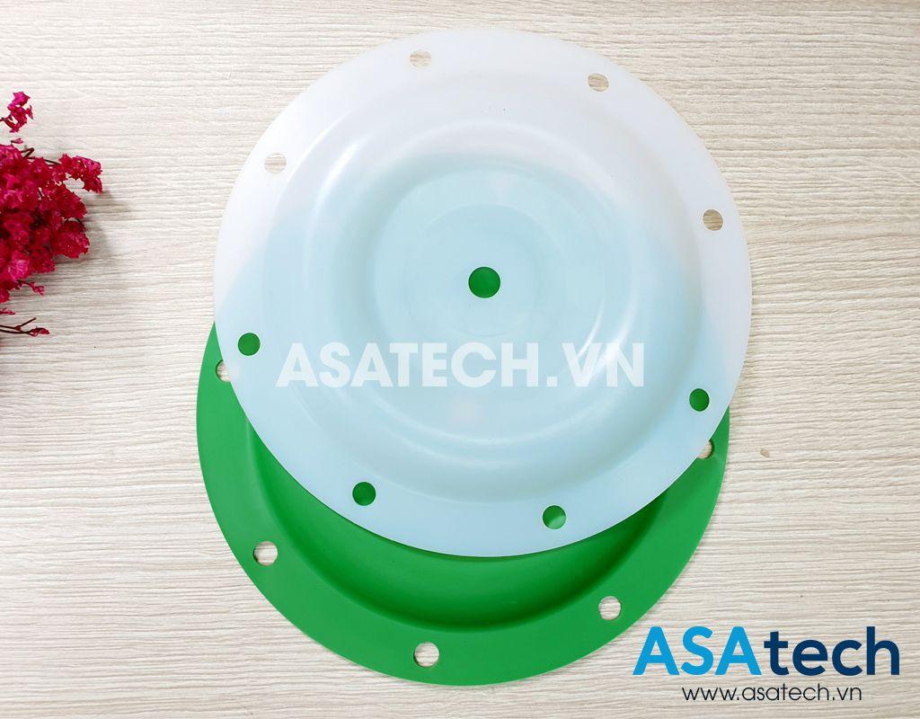 Màng bơm teflon 93459-4 và màng backup Santoprene xanh 92973-B