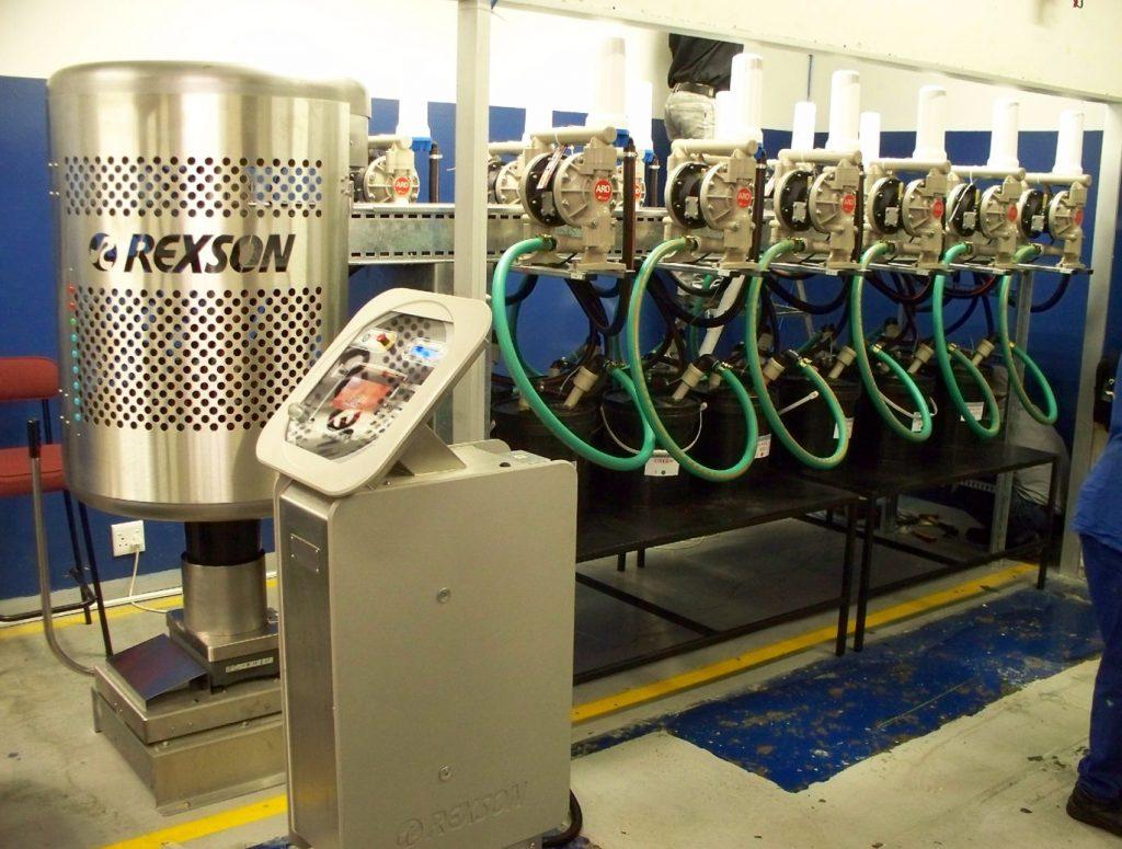 Máy bơm màng khí nén trong hệ thống sản xuất mực in