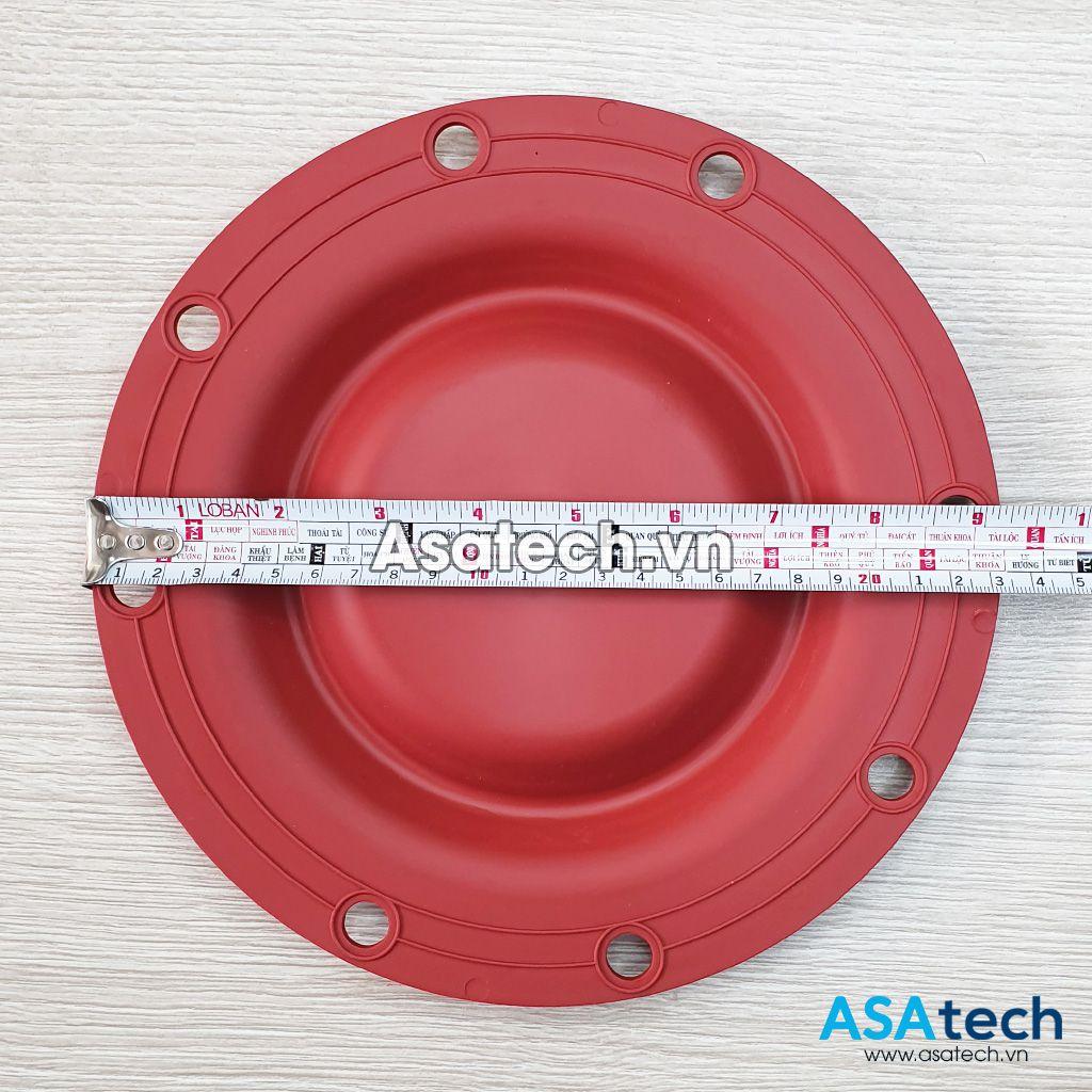 Đường kính màng bơm santoprene S1F là: 23cm