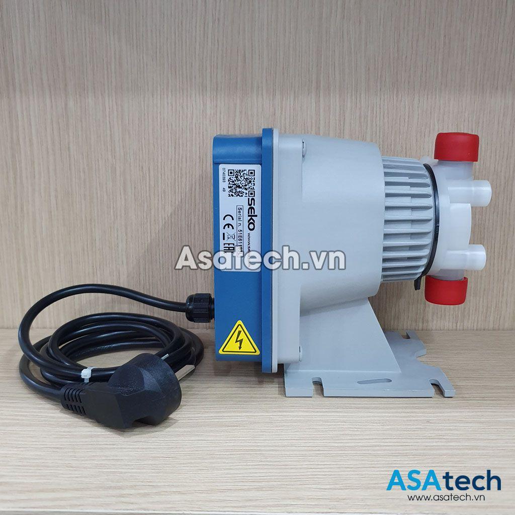 Mặt bên của Bơm định lượng hóa chất SEKO DMS200 - Diaphragm Metering Pump