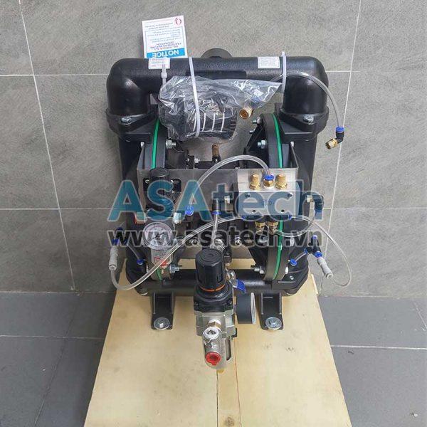 Mặt sau của máy bơm màng khí nén TDS PD14-AAT-SPSP-02