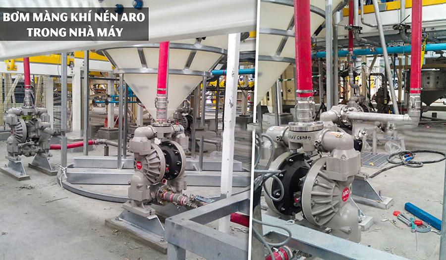 Bơm màng khí nén Aro nhập khẩu chính hãng Mỹ.