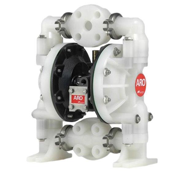 Máy bơm màng ARO 6661A3-344-C, một trong những dòng máy bơm màng hóa chất có vỏ bằng nhựa PP, màng bơm Teflon, an toàn khi dùng để bơm hóa chất