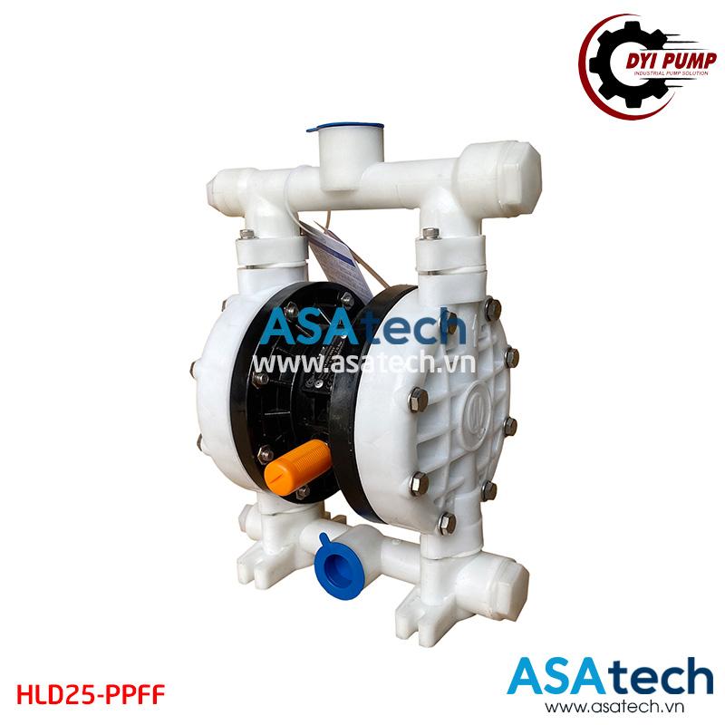 Bơm màng hóa chất DYI HLD25-PPFF dùng để bơm các chất điện ly vào vào bể mạ điện phân, bể mạ xi kẽm...