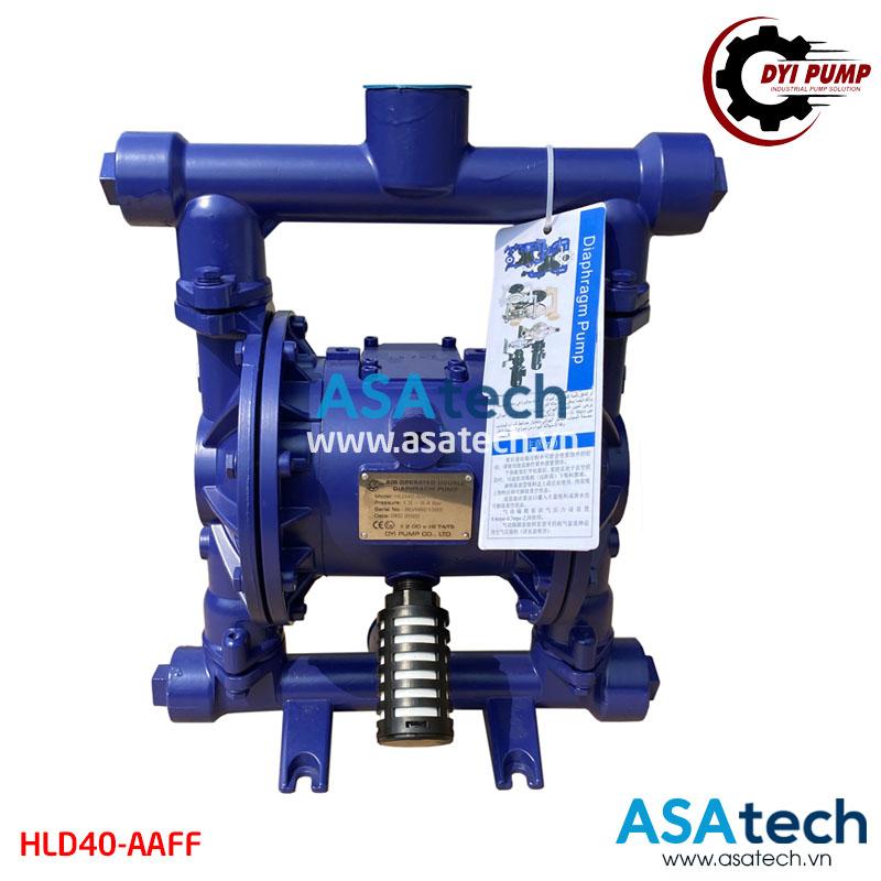 Máy bơm dầu diesel khí nén DYI HLD40-AAFF có kích thước 1.5 inch, thân nhôm, sử dụng màng bơm Teflon
