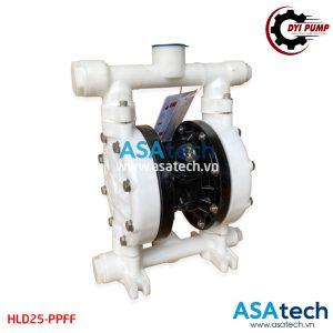 Máy bơm màng hóa chất khí nén DYI HLD25-PPFF