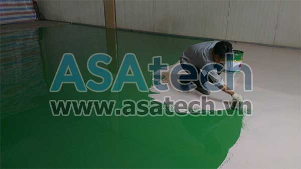 Sơn epoxy được dùng để sơn sàn nhà, tạo độ bóng cho bề mặt sơn