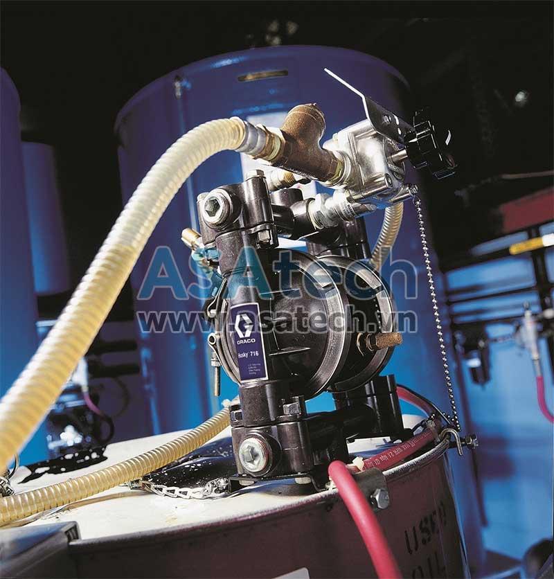 Bơm màng Husky được ứng dụng trong nhiều lĩnh vực sản xuất công nghiệp khác nhau