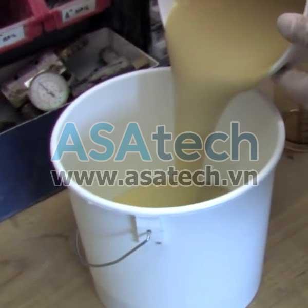 Bơm bánh răng có thể dùng để bơm PU foam 2 thành phần dạng lỏng (PU foam liquid)