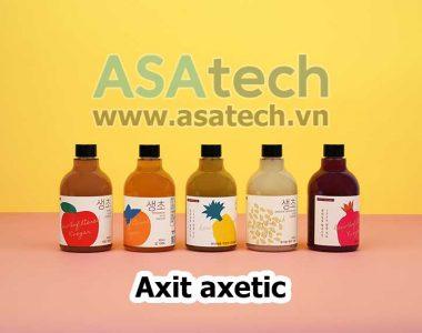 Các loại axit axetic thường dùng trong thực phẩm