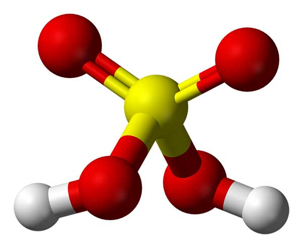 Cấu tạo axit sunfuric - H2SO4