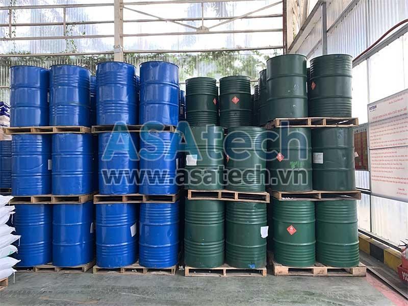 Hóa chất Toluen được dùng làm dung môi pha loãng hóa chất trong nhiều ngành công nghiệp khác nhau