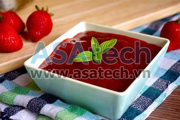Mứt dâu - Một loại thực phẩm dạng sệt cần sử dụng đến máy bơm thực phẩm