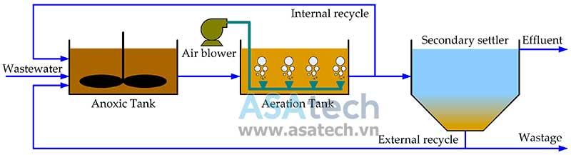 Quy trình xử lý nước thải công nghiệp bằng bùn hoạt tính (ASP - Activated Sludge Plant)