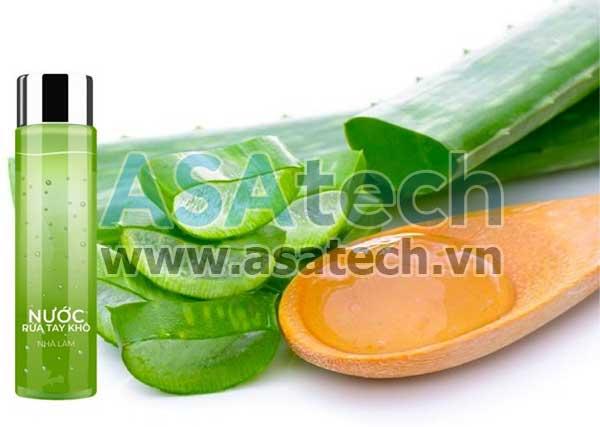 Sản xuất gel rửa tay khô bằng nha đam tại nhà
