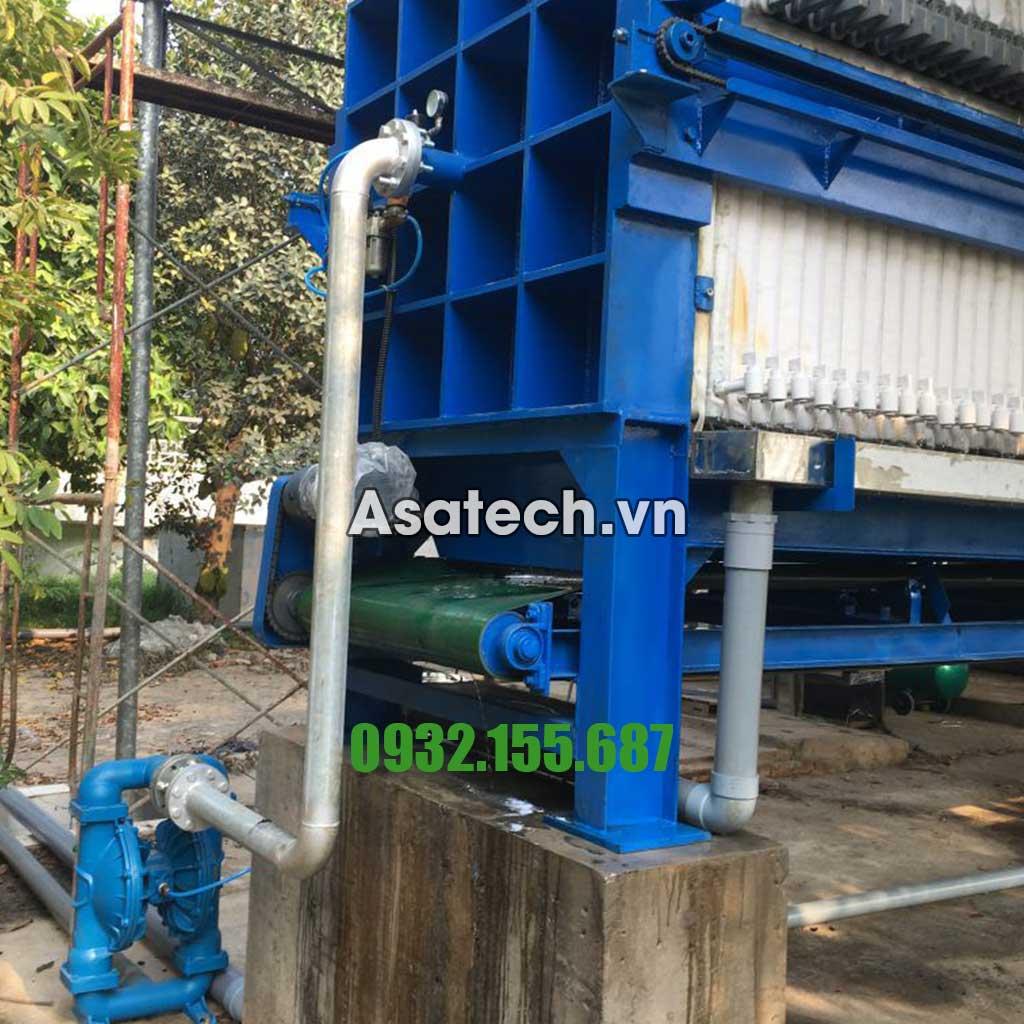 Bơm màng khí nén dùng cho máy ép bùn