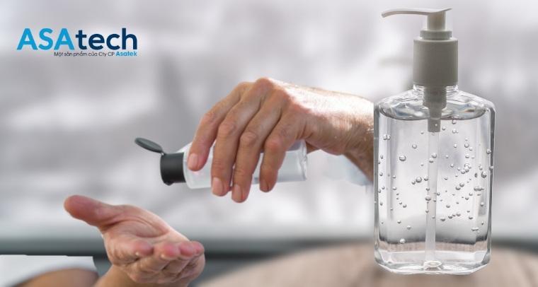 Sử dụng gel rửa tay khô